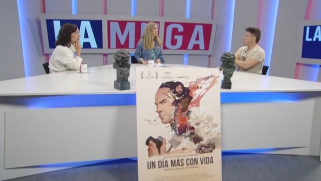 El Goya y sus nuevos 'dueños' navarros visitan 'La Muga'