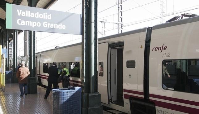 Un tren Alvia en la estación Valladolid-Campo Grande.