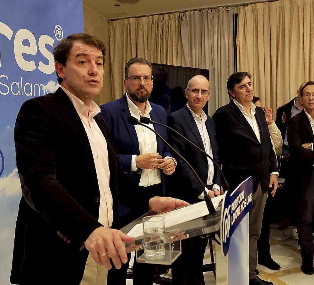 AlfonsoFernándezMañueco interviene en Salamanca en el inicio de campaña del PP autonómico