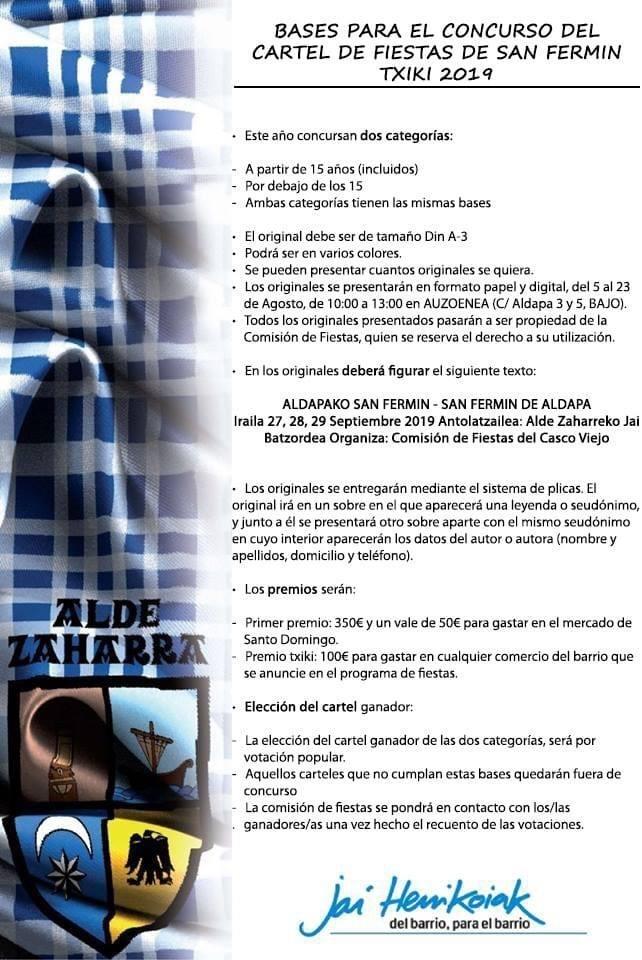 Ya se pueden presentar carteles para San Fermín txikito