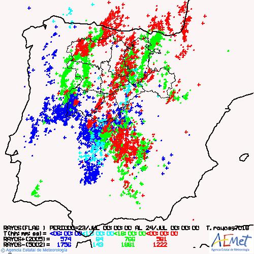 La tormenta descarga 7,8 litros y 131 rayos en Valladolid