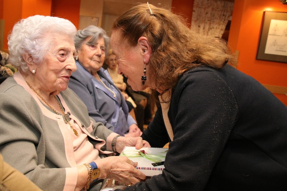 Albina y Fuensanta, las dos centenarias de Esguevillas