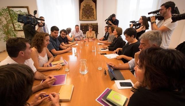 PSN plantea a Geroa Bai, Podemos e I-E un pacto de Gobierno