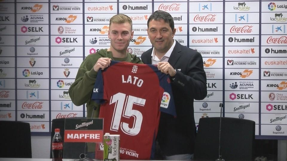 Lato es presentado como nuevo jugador de Osasuna