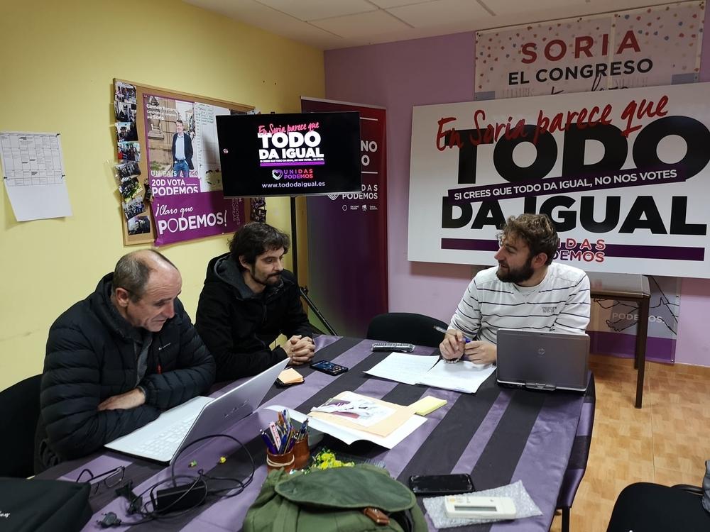 Podemos Soria culpa a Sánchez del avance de Vox