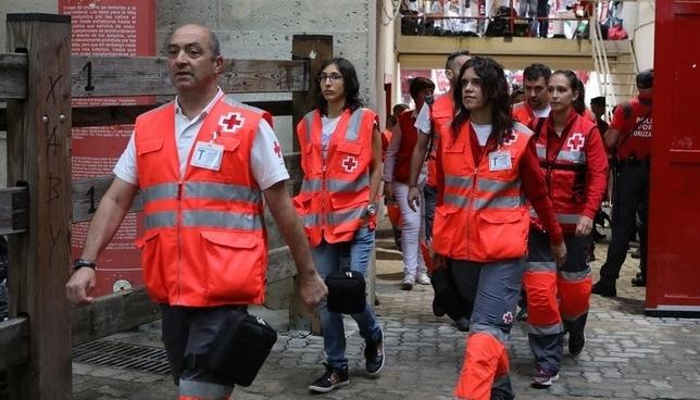 Cruz Roja atiende a 655 personas durante los Sanfermines