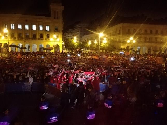 Directiva y plantilla de Osasuna continúa con la celebración
