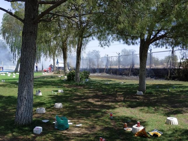 Desalojan a 500 personas del Playa Park por un incendio
