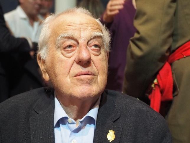 Daniel de Fernando, en su última aparición en un acto público, en diciembre de 2018 Juan Luis del Pozo
