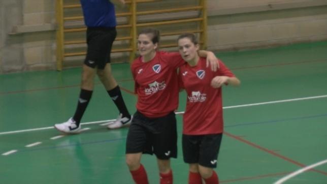 Susana Bedmar celebra uno de los goles marcados al Muslera NATV