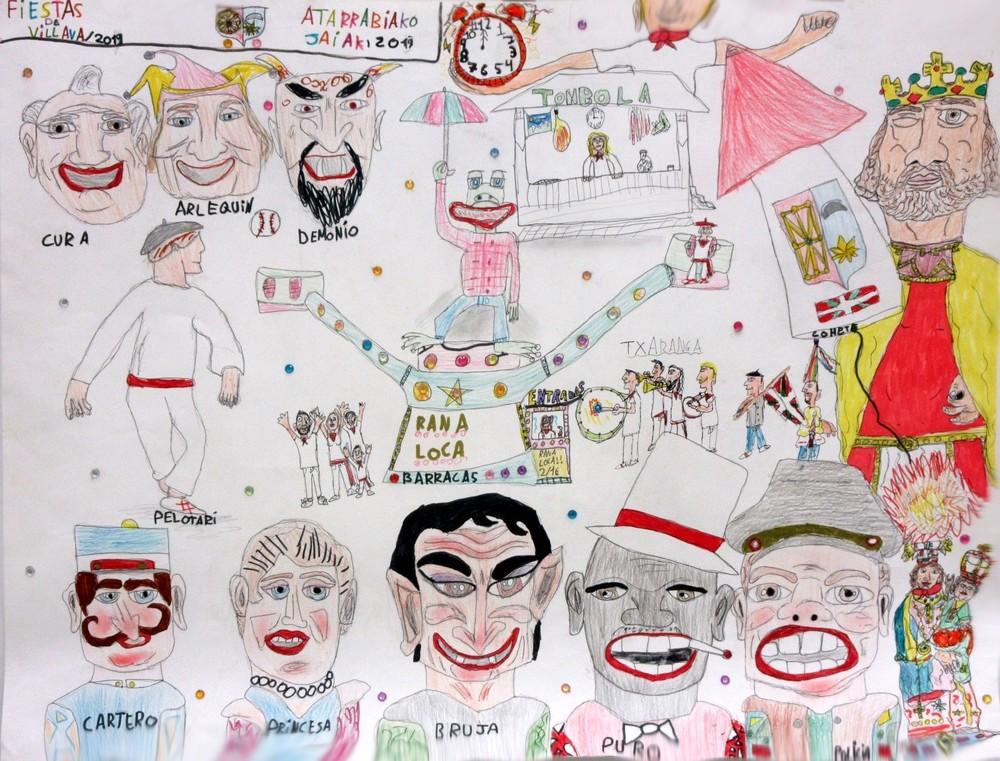 Cartel txiki fiestas de Villava
