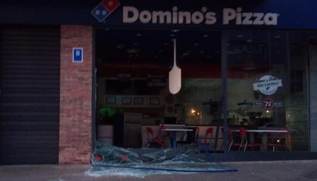Asaltan una pizzería de Parquesol tras hacer un alunizaje