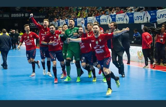 Los jugadoras de Osasuna Magna en la pasada Copa de España