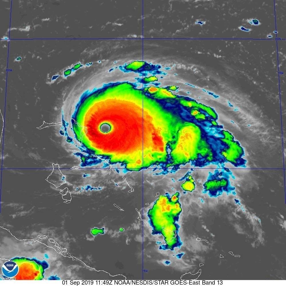 Al menos un muerto por el huracán 'Dorian' en Bahamas