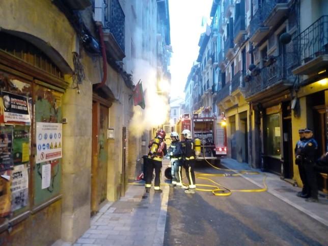 Un incendio provoca daños materiales importantes en la peña