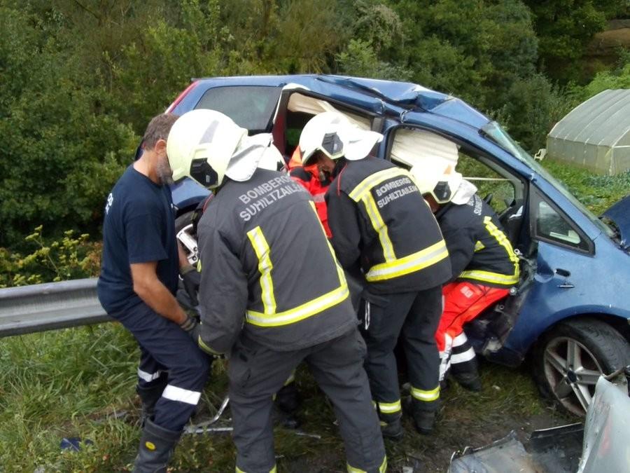 El accidente ha ocurrido en la N121A