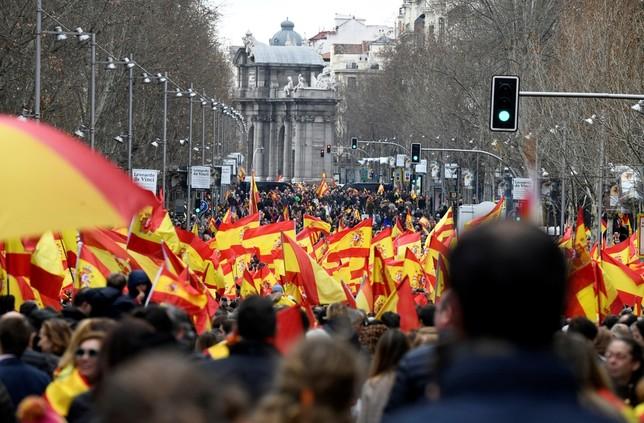 Clamor en Madrid contra el Gobierno de Sánchez VICTOR LERENA