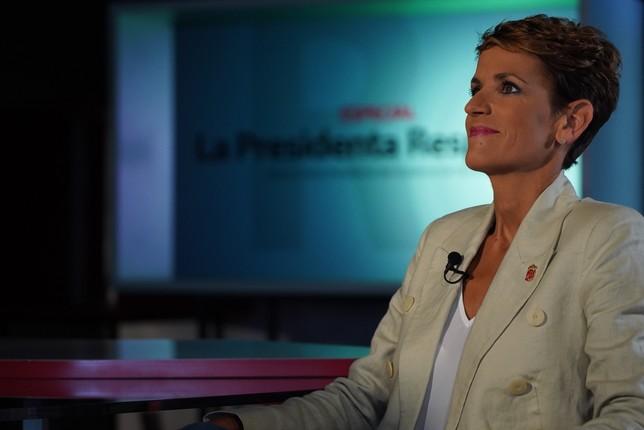 María Chivite responde esta noche en Navarra TV