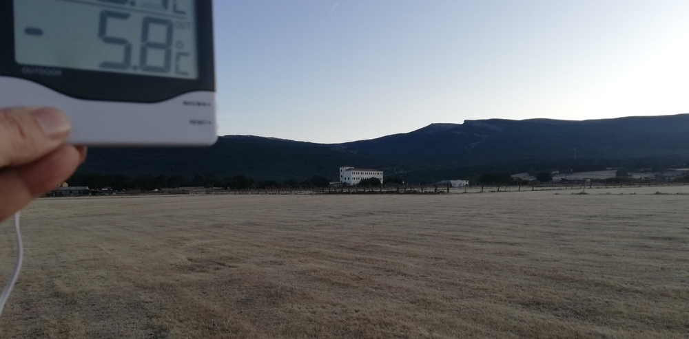 La primera helada de la temporada en Duruelo