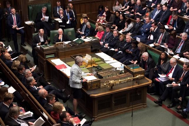 Los diputados británicos votan las opciones del Brexit  MARK DUFFY