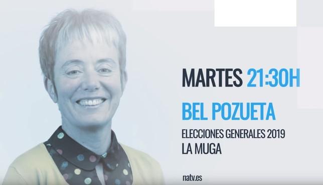 Bel Pozueta de EH Bildu visita esta noche Navarra Televisión