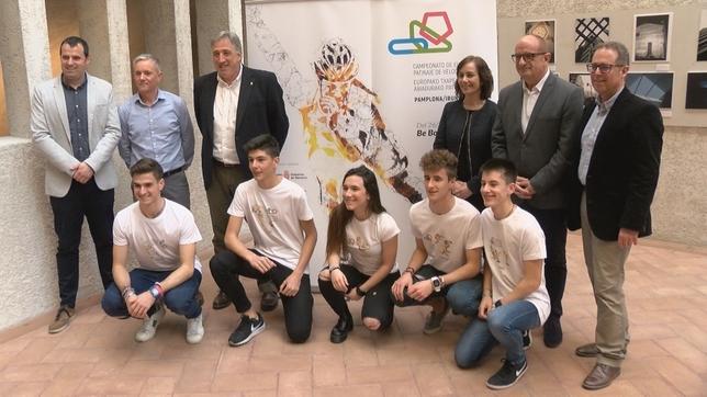 Presentación del Campeonato de Europa de patinaje de Pamplona