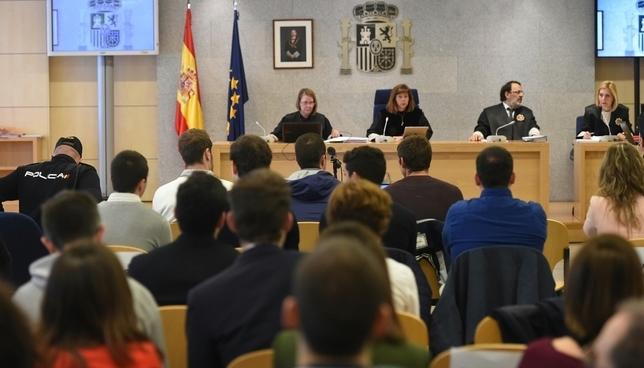 Sala del juicio del caso Alsasua en la Audiencia Nacional Fernando Villar EFE