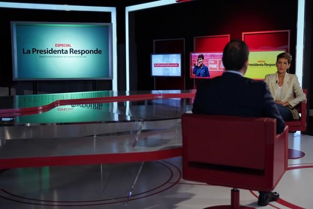 Chivite asegura que modificará el decreto del euskera