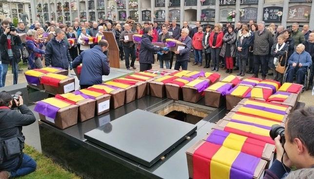 Inhumados los restos de las 46 víctimas de la Guerra Civil Europa Press