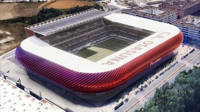 Nuevo Sadar apuesta por una fachada llamativa en el estadio