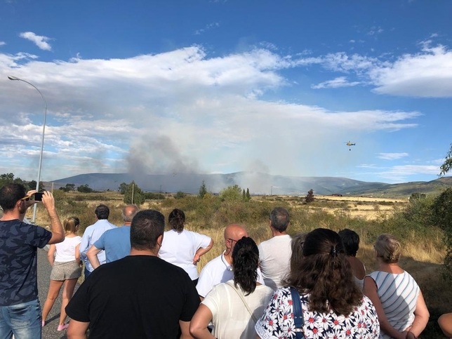 El incendio de Torrecaballeros a punto de ser controlado