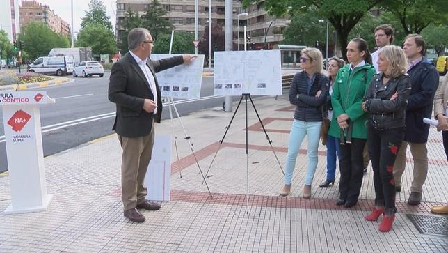 Primeros compases de la campaña electoral en Pamplona