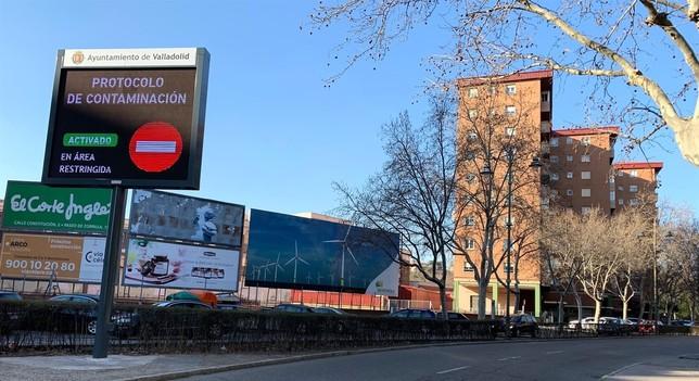 Valladolid mantiene el corte del centro al tráfico hoy