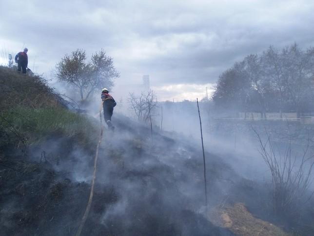 Incendio forestal en Tafalla