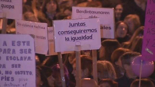 Las calles de Navarra se llenaron en 2018 en la primera huelga feminista