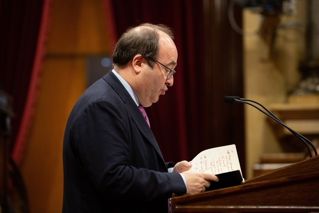El Parlament evita que Iceta sea senador y presida la cámara David Zorrakino/Europa Press