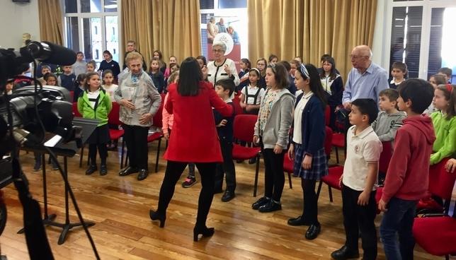 Los setenta niños y niñas participantes pertenecen al Coro Infantil del Orfeón Pamplonés