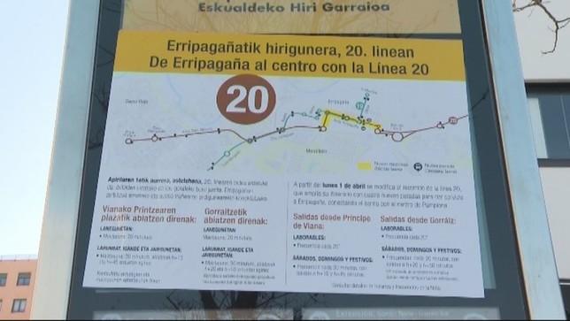 Polémica en Ripagaina por el nuevo trazado de la línea 20