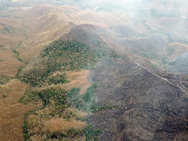 El humo cubre la Amazonía