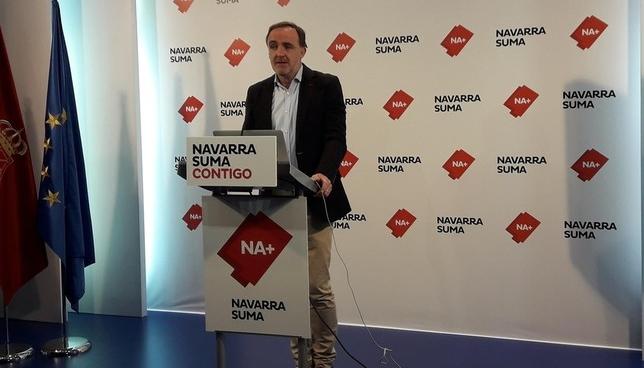 Javier Esparza, en rueda de prensa Europa Press