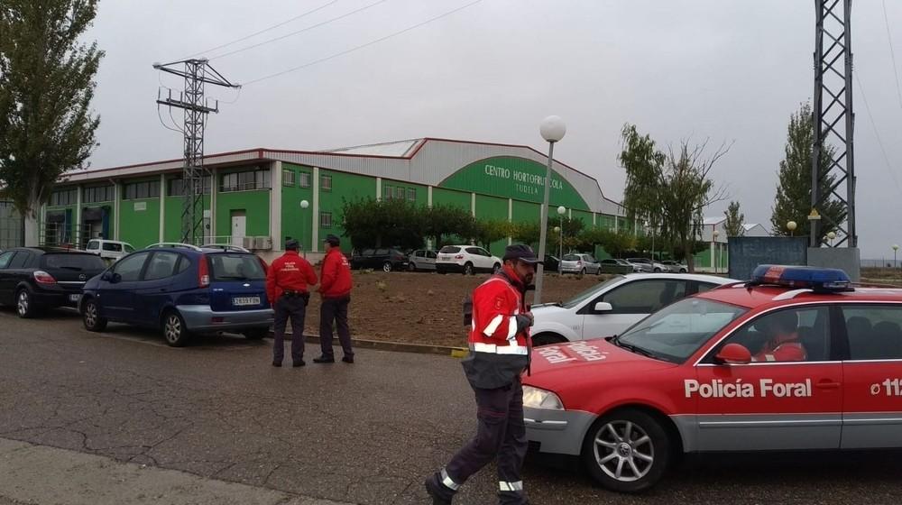 Desalojada la empresa AN en Tudela por una fuga de amoniaco