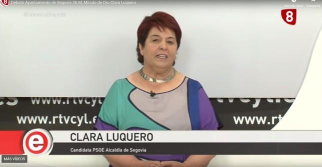 El minuto de oro de Clara Luquero (PSOE)