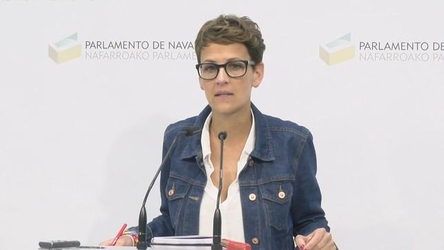 María Chivite, en el Parlamento