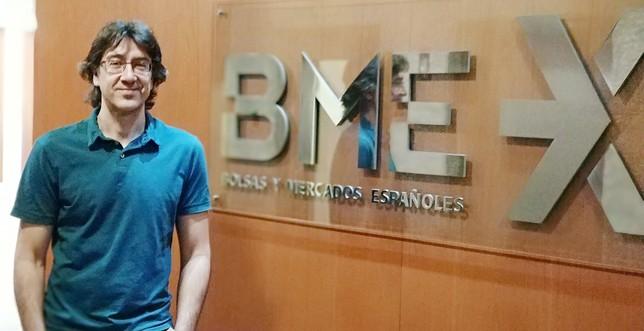 El segoviano Álvaro Moreno trabaja en el grupo Bolsas y Mercados Españoles.