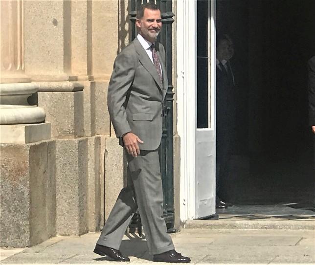 Don Felipe a su llegada al Palacio de La Granja