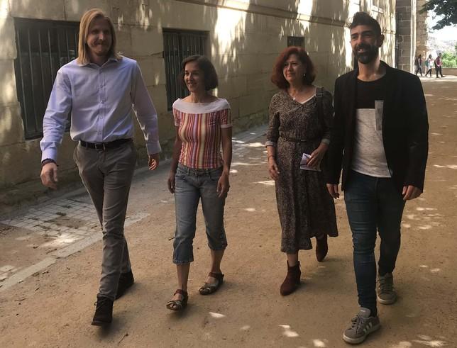 Desde la izquierda, Pablo Fernández, Amada Peñalosa, Ana del real y Guillermo San Juan