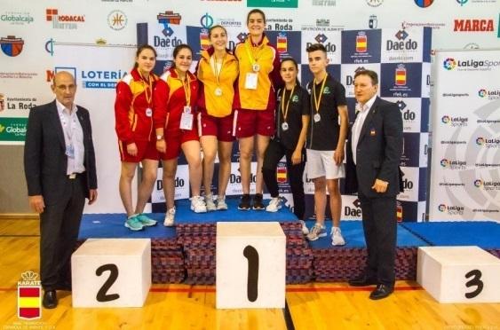 Cinco medallas en Nacional de Karate Tradicional