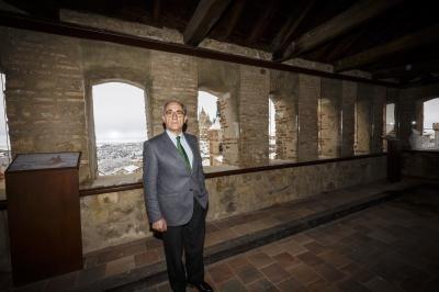 Javier Reguera, presidente de la Fundación Caja Segovia ROSA BLANCO