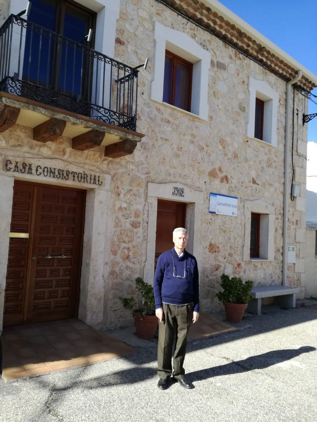 Juan Sanz Águeda, alcalde de Bercimuel, con 25 habitantes. D.S.