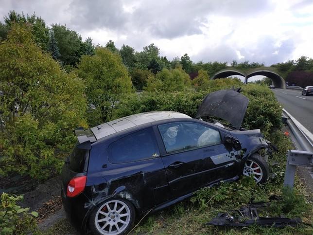 Accidente múltiple en plena autovía a la altura de Lakuntza